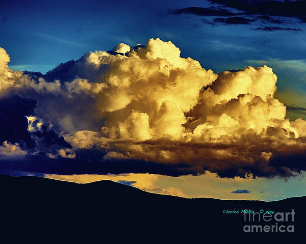 Photograph - Taos Monsoon In Color by Charles Muhle