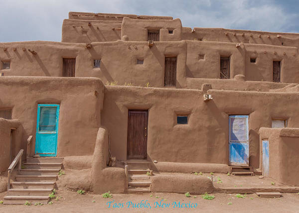 Photograph - Taos Pueblo Card by Britt Runyon