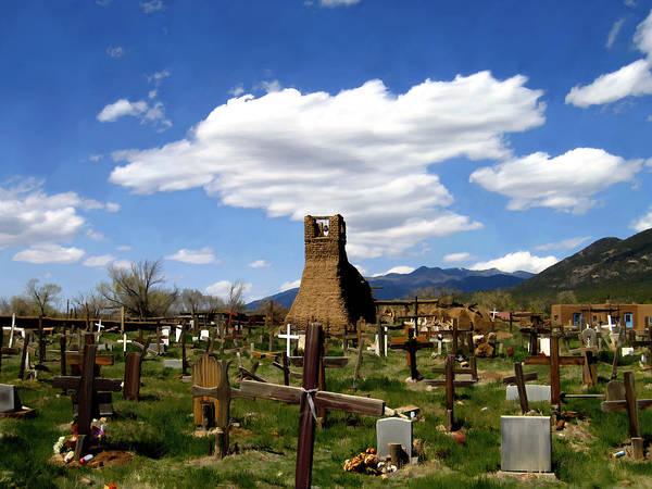 Photograph - Taos Pueblo Cemetery by Kurt Van Wagner
