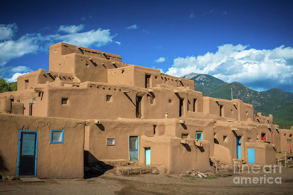 Photograph - Taos Pueblo by Inge Johnsson