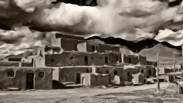 Photograph - Taos Pueblo by Lou  Novick