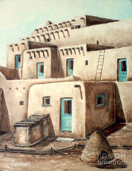 Painting - Taos Pueblo by Santiago Chavez