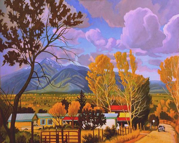 Painting - Taos Red Roofs by Art West