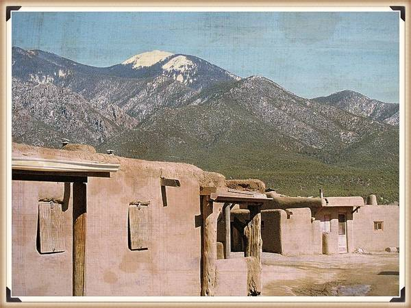 Photograph - Taos Something In The Light 2 by Mario MJ Perron
