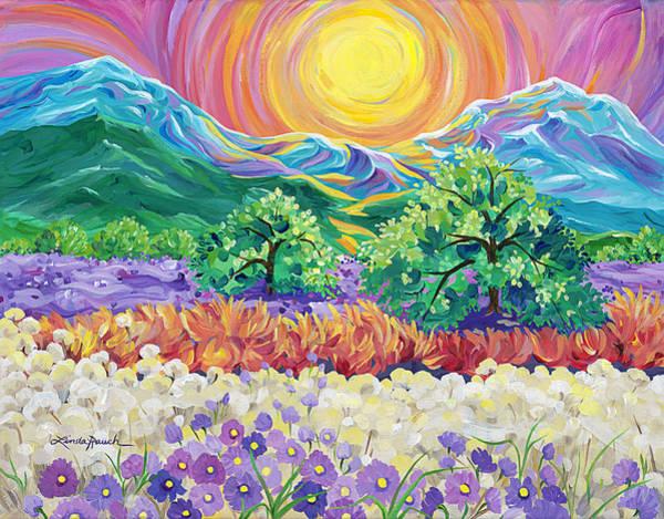 Painting - Taos Sunrise by Linda Rauch