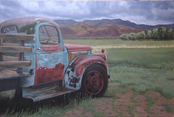 Painting - Taos Truck by Todd Cooper