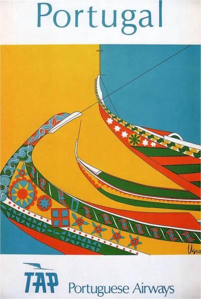 Wall Art - Mixed Media - Tap Portuguese Airways, Portugal -  - Retro Travel Poster - Vintage Poster by Studio Grafiikka