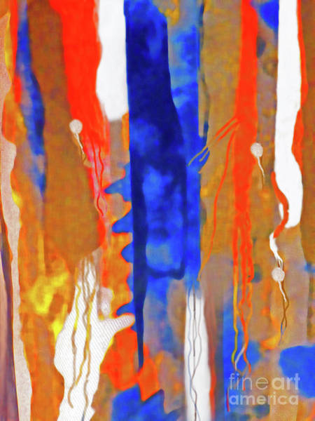 Variation Mixed Media - Tapestry Series Swimming Upstream by Sharon Williams Eng