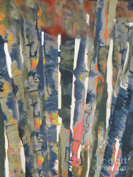 Variation Mixed Media - Tapestry Series Tree Tops by Sharon Williams Eng