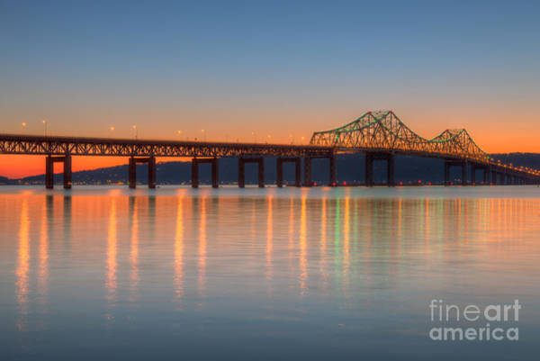Photograph - Tappan Zee Bridge After Sunset II by Clarence Holmes