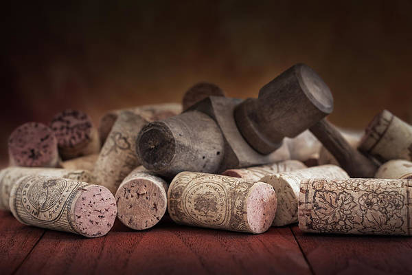 Aged Wall Art - Photograph - Tapped Out - Wine Tap With Corks by Tom Mc Nemar