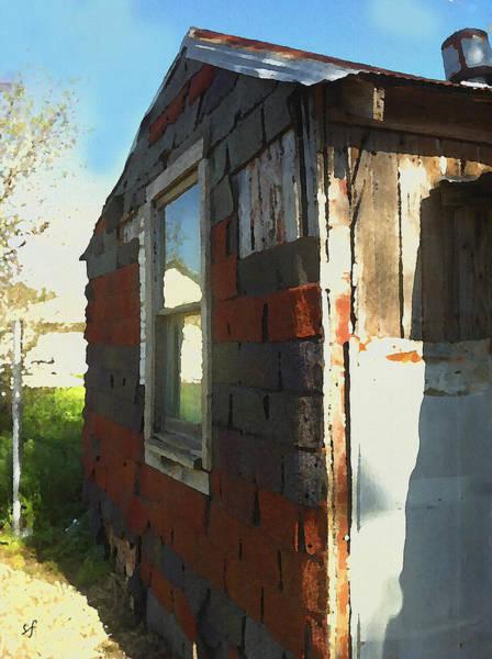 Digital Art - Tar Paper Shack In Shantytown by Shelli Fitzpatrick