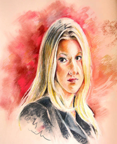 Tara Painting - Tara Summers In Boston Legal by Miki De Goodaboom
