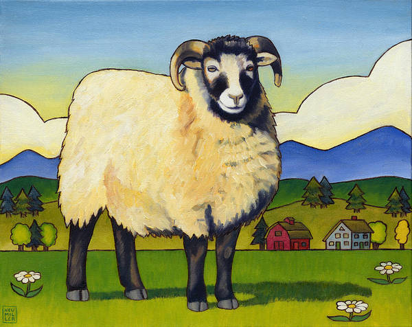 Wall Art - Painting - Taras Sheep by Stacey Neumiller
