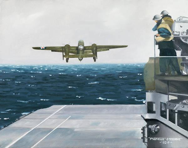 Uss Hornet Painting - Target Tokyo by Marc Stewart