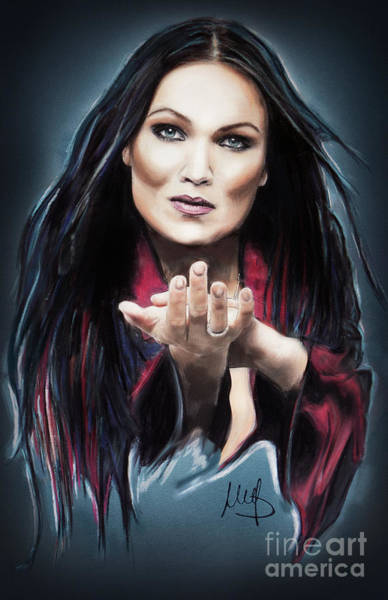Wall Art - Mixed Media - Tarja Turunen by Melanie D