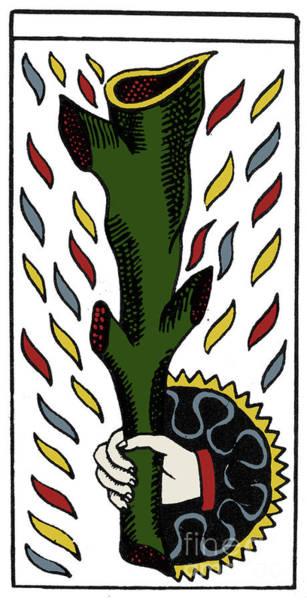 Photograph - Tarot Card Ace Of Wands by Granger