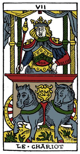 Photograph - Tarot Card Chariot by Granger
