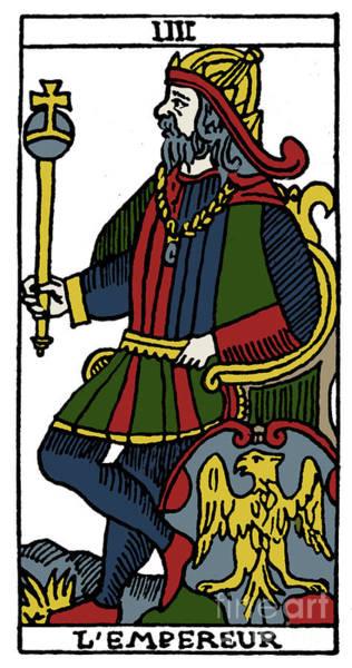 Photograph - Tarot Card Emperor by Granger