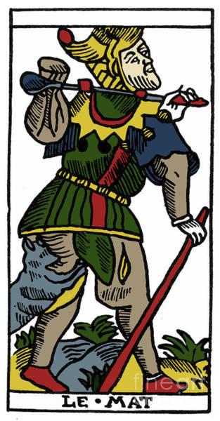 Photograph - Tarot Card Fool by Granger