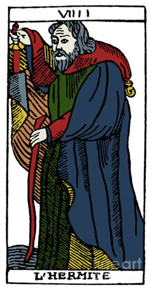 Photograph - Tarot Card Hermit by Granger