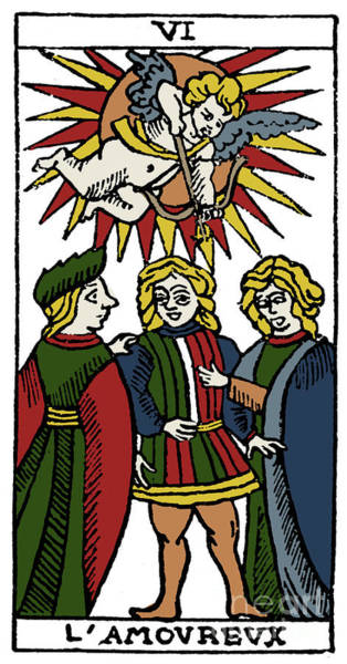 Photograph - Tarot Card Lovers by Granger