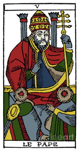 Photograph - Tarot Card Pope by Granger