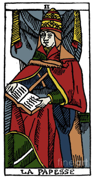 Photograph - Tarot Card Popess by Granger