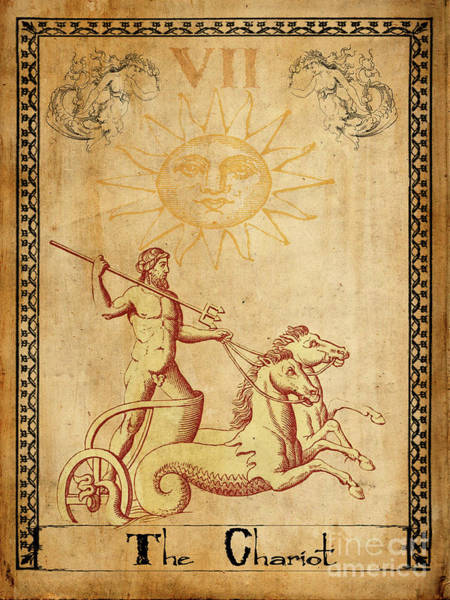 Wall Art - Painting - Tarot Card The Chariot by Cinema Photography