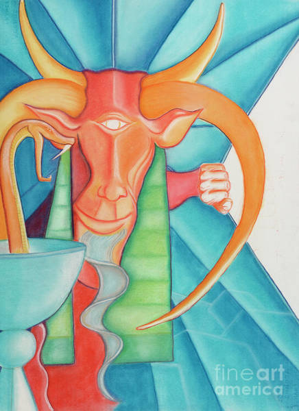 Pastel - Tarot Devil by Roger Williamson