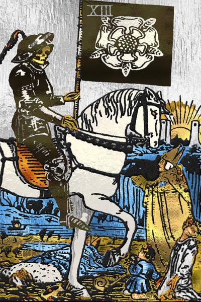 Digital Art - Tarot Gold Edition - Major Arcana - Death by Serge Averbukh