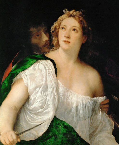 Titian Painting - Tarquinius And Lucretia by Titian
