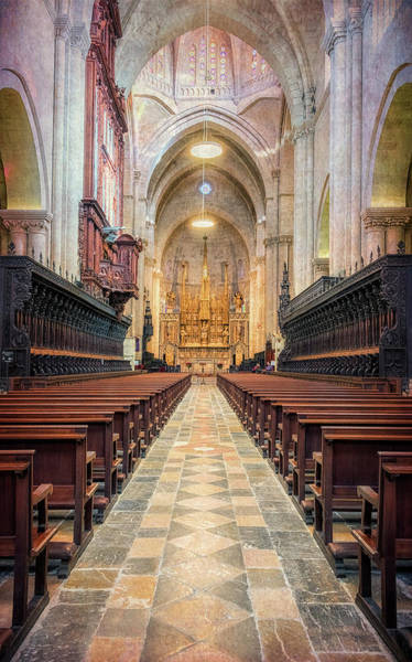 Photograph - Tarragona Cathedral Interior by Joan Carroll