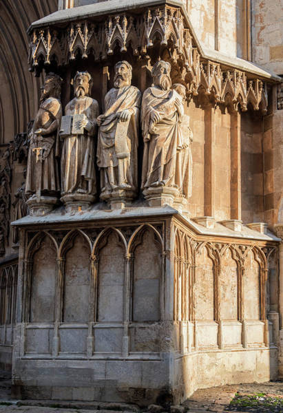Photograph - Tarragona Spain Cathedral Statues by Joan Carroll