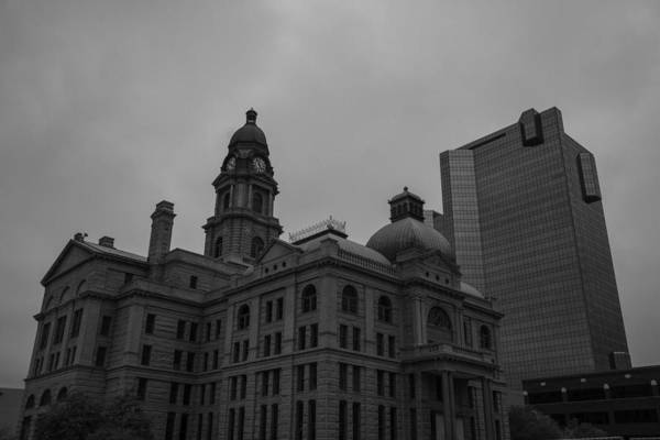 Photograph - Tarrant County Courthouse Black And White by Jonathan Davison