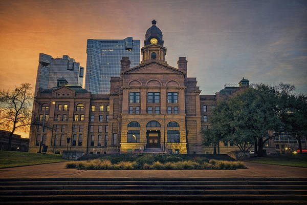 Photograph - Tarrant County Courthouse North Face by Joan Carroll