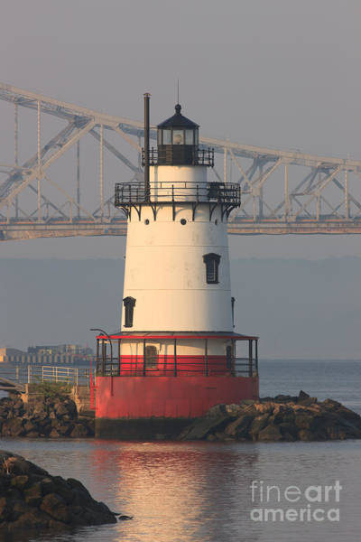 Photograph - Tarrytown Lighthouse And Tappan Zee Bridge IIi by Clarence Holmes