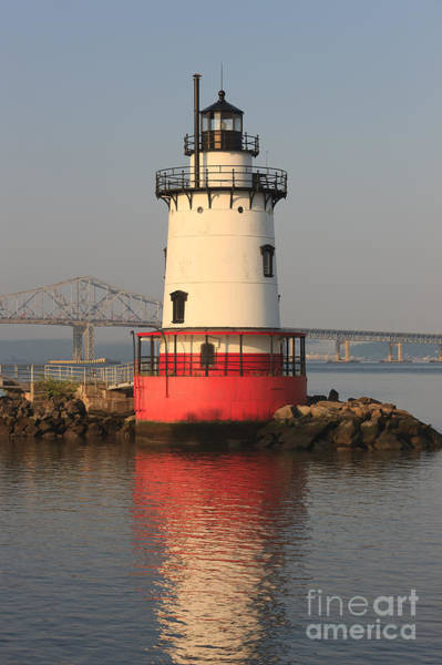 Photograph - Tarrytown Lighthouse And Tappan Zee Bridge Vi by Clarence Holmes
