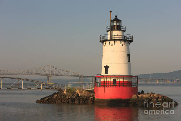Photograph - Tarrytown Lighthouse And Tappan Zee Bridge Vii by Clarence Holmes