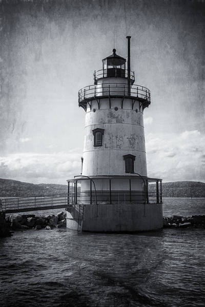 Photograph - Tarrytown Lighthouse II Bw by Joan Carroll