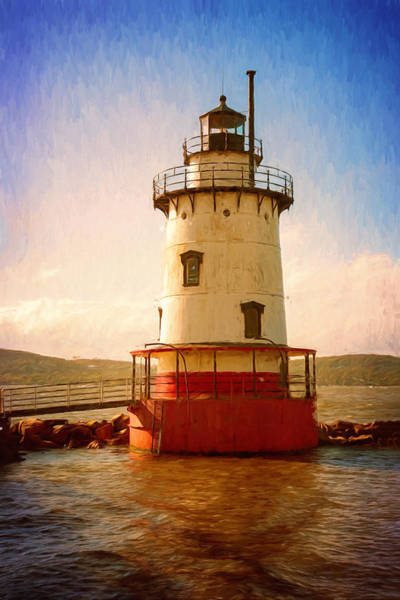 Photograph - Tarrytown Lighthouse II Painterly by Joan Carroll