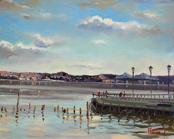 Hudson Painting - Tarrytown View by Ylli Haruni