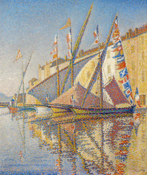 Painting - Tartans With Flags by Paul Signac