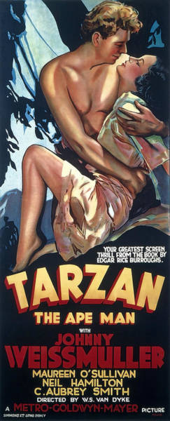 Wall Art - Photograph - Tarzan The Ape Man Lobby Promotion 1932 by Daniel Hagerman