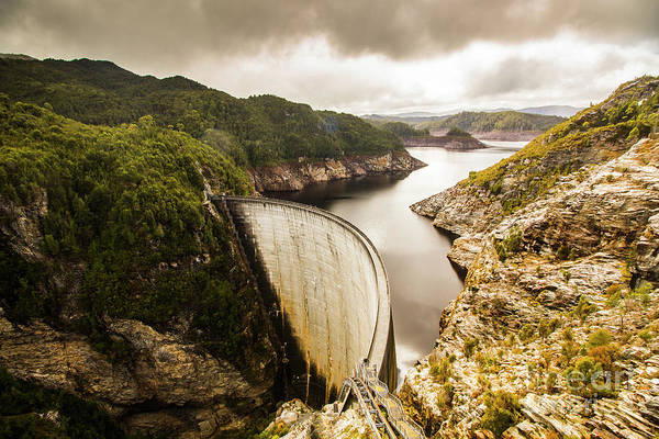 Dam Wall Art - Photograph - Tasmania Hydropower Dam by Jorgo Photography - Wall Art Gallery