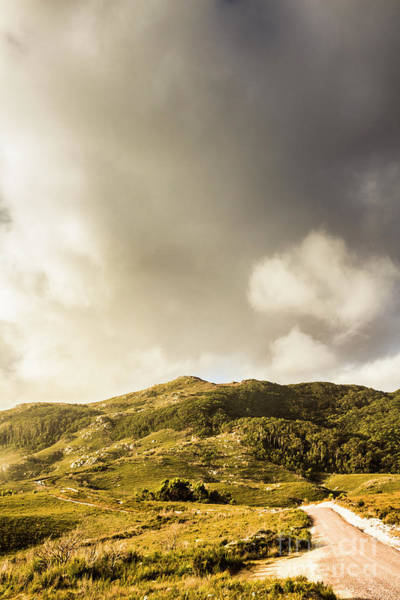 Photograph - Tasmanian Mountain Against Dramatic Sky by Jorgo Photography - Wall Art Gallery