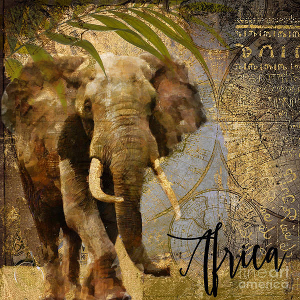 Wild Life Painting - Taste Of Africa Elephant by Mindy Sommers