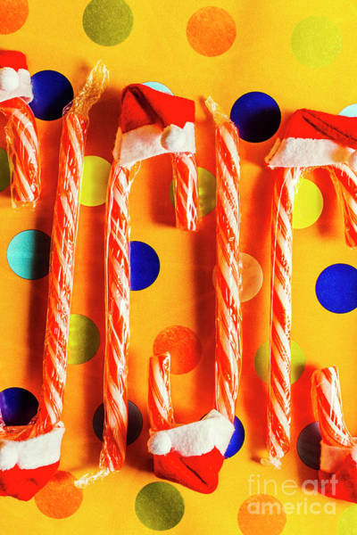 Festive Wall Art - Photograph - Tasty Candy Cane Sweets by Jorgo Photography - Wall Art Gallery