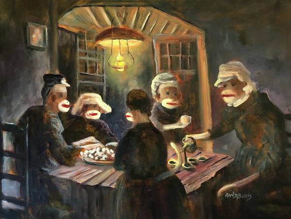 Wall Art - Painting - Tater Eaters by Randy Burns