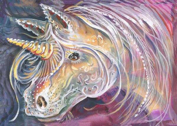 Painting - Tatoo The Unicorn by Sheri Jo Posselt